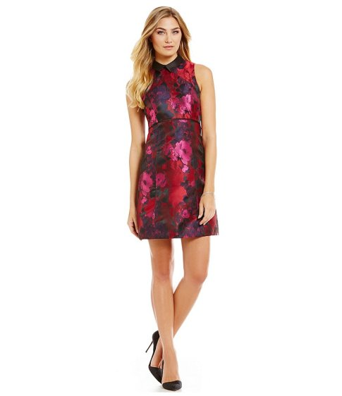 valentines-day-ivanka-trump-floral-satin-brocade-empire-waist-dress-dresses-under-100