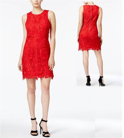 Valentine's Day Kensie Go Red For Women® Lace Sheath Dress Dresses Under $100.jpg