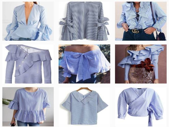 Blue and white striped ruffle banker shirt instagram SS17 Trends.jpg
