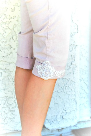 diy pearl jeans capri ss17 trend