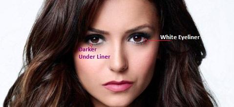 White eyeliner big eye tricks