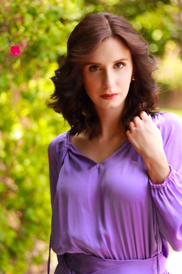 Nouvelle Lavendar Silk Dress Phoenix Fashion Week Designer (2)
