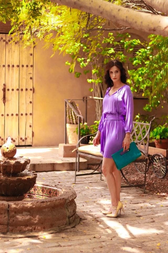 Nouvelle Lavendar Silk Dress Phoenix Fashion Week Designer5